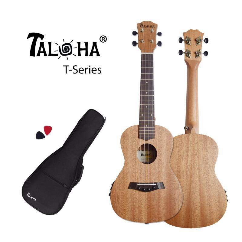 TALOHA T-Series T-01C# Concert 23-inch Ukulele with pickup and tuner function (African Mahogany & Rosewood) + Free Padded Bag & Picks Malaysia