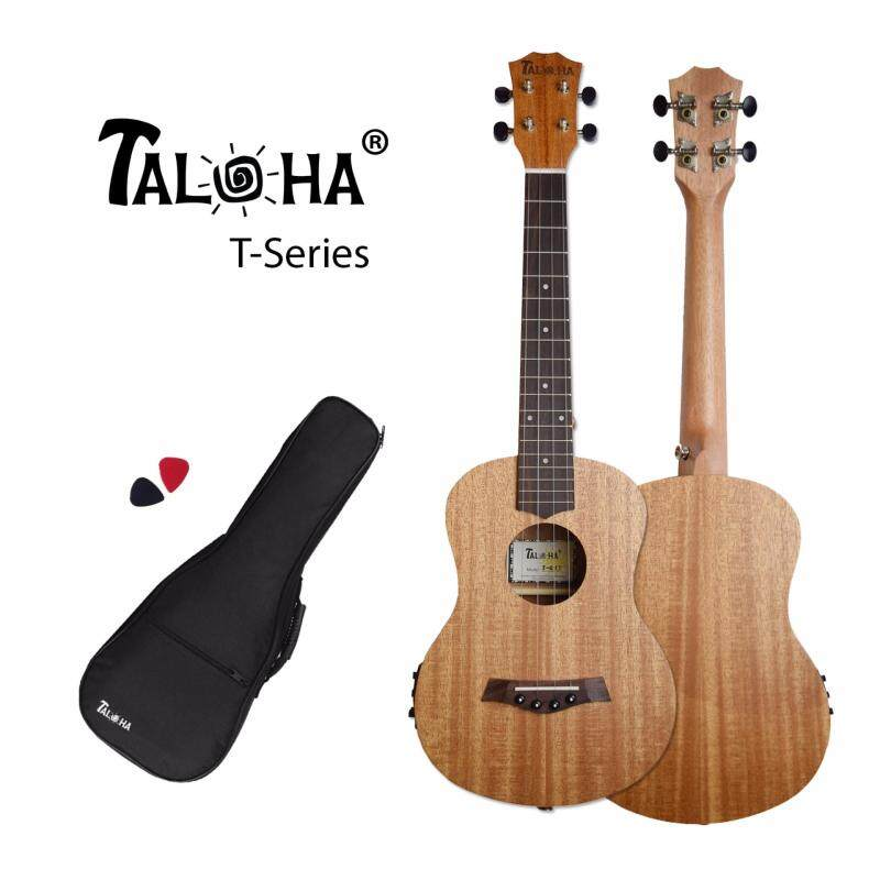 TALOHA T-Series T-01T# Tenor 26-inch Ukulele with pickup and tuner function (African Mahogany & Rosewood) + Free Padded Bag & Picks Malaysia