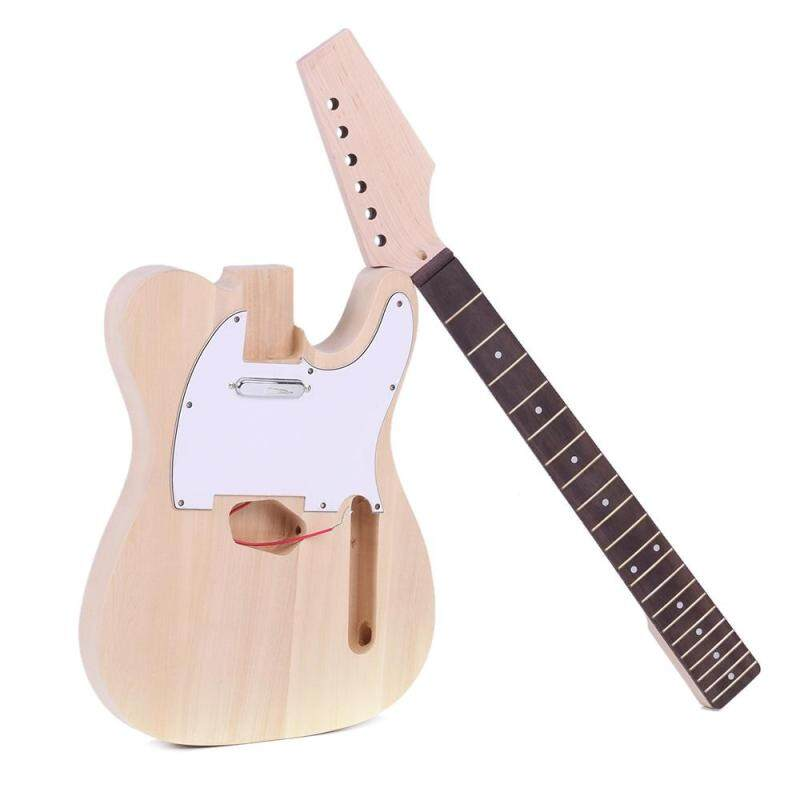 Tele Style Unfinished DIY Electric Guitar Kit Basswood Body Maple Neck Rosewood Fingerboard Malaysia