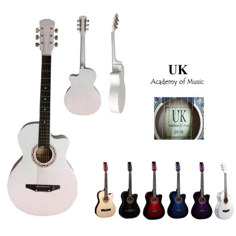 UK Acoustic Guitar 38 Inch (White) Malaysia