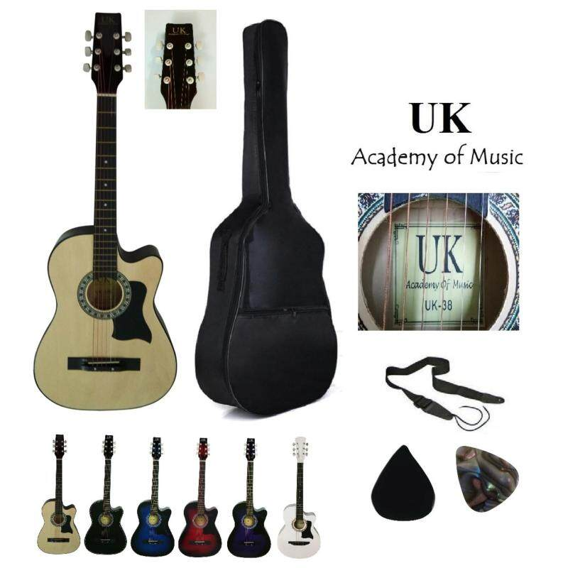 UK Acoustic Guitar 38 Inch With Pickguard+Bag+2 Picks+Strap Malaysia