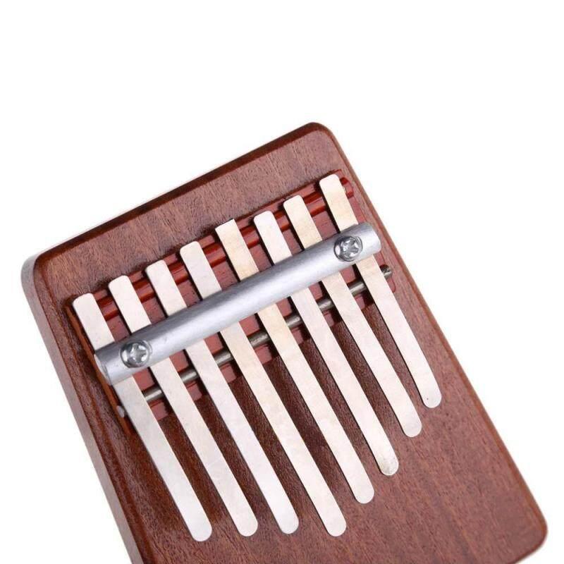 yeopor 8 Key Finger Piano Kalimba Mbira Likembe Sanza Thumb Piano (Red) Malaysia