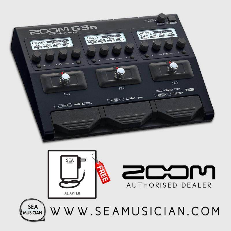 ZOOM G3N MULTI-EFFECTS GUITAR EFFECT PROCESSOR 150 PATCHES 7 FX AT ONCE AUX IN USB AUDIO AMP CABINET MIKING SIMULATION MODELLING RUGGED METAL BODY Malaysia