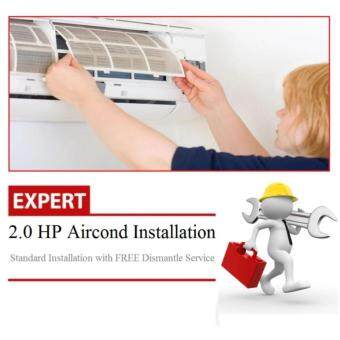 Professional 2HP Aircond Installation Service (Wall Split) R410aGas