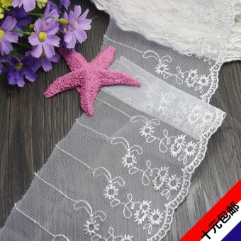 Harga 10 cm width white mesh embroidery lace lace tablecloths curtains quilt 10 yuan shipping can be invoiced