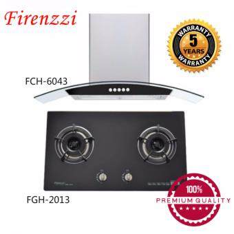 Harga [100% Original] Firenzzi FCH-6043 Designer Cooker Hood 1310m3/hr + Firenzzi High End Glass Top/Built In Hob FGH2013
