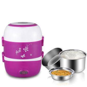 2.0Litre 3 layer Multi Functional Rice Cooker/Steamer (Purple) FREE Universal Adapter - 2