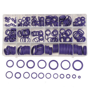225Pcs Seal O-ring R134a R22 Air Conditioning O-Ring Rubber WasherAssortment PL