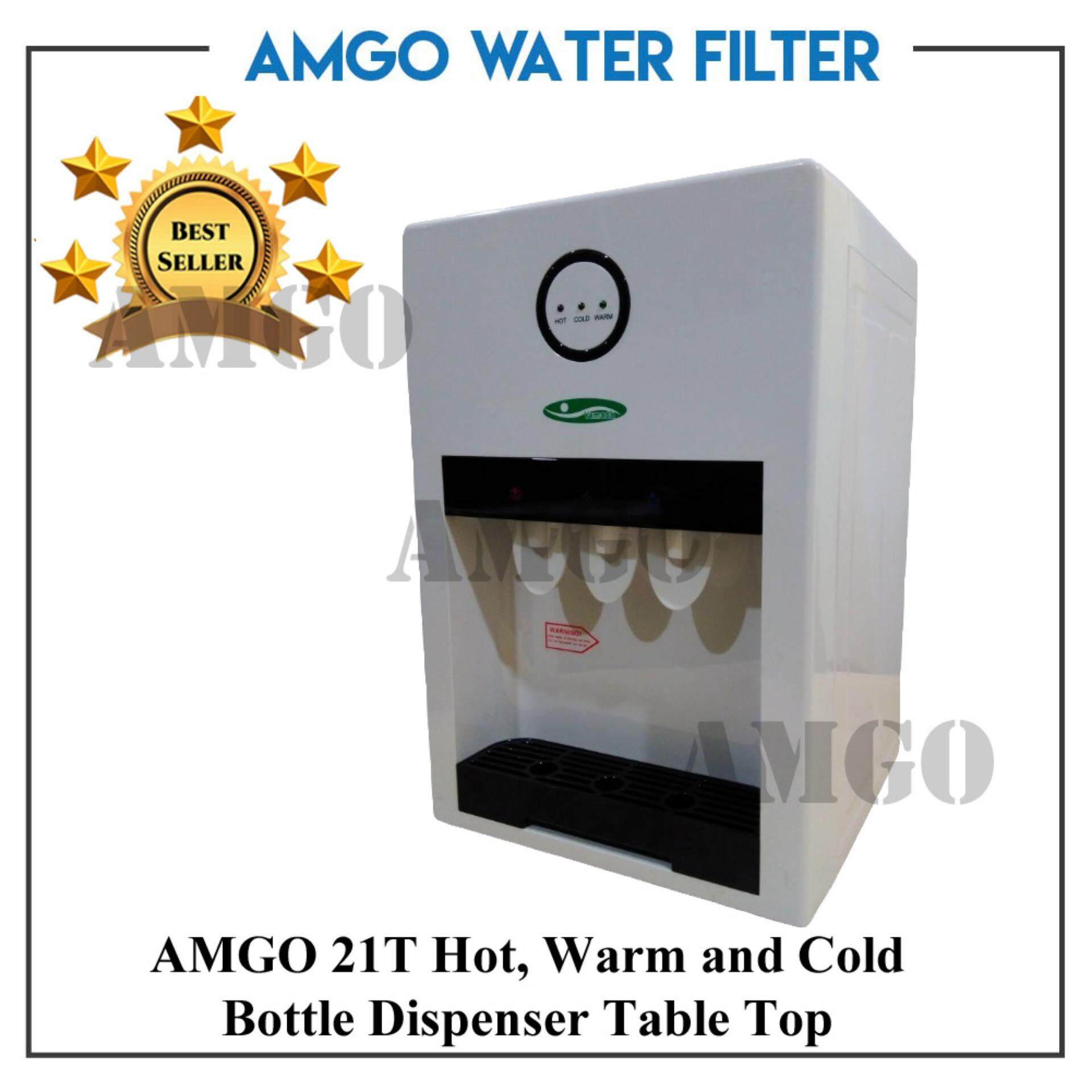 AMGO 21T Hot,Warm And Cold Table Top Water Dispenser Bottle Type | Lazada  Malaysia
