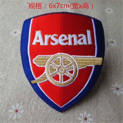 Arsenal cloth sticker boutique adhesive ironing detail