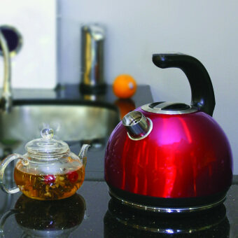 Corvan Smart Kettle with Variable Temperature (Red) - 4