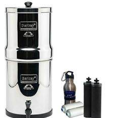 Crown Berkey Water Purifier 2 Black 2 PF 2 Fluoride Arsenic Filters Stand