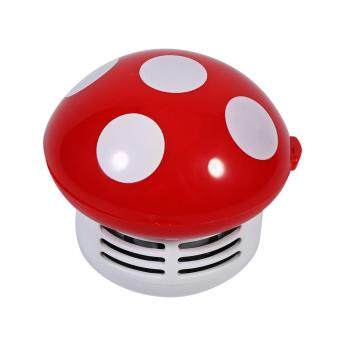 Cute Mini Mushroom Shape Laptop keyboard Desktop Keyboard CornerDust Vacuum Cleaner Sweeper New (Red) - 2