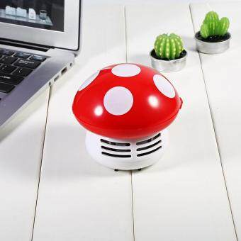 Cute Mini Mushroom Shape Laptop keyboard Desktop Keyboard CornerDust Vacuum Cleaner Sweeper New (Red) - 4