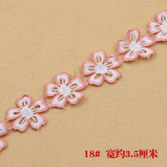 DIY multi-color embroidered petals flowers curtain tassled lace accessories