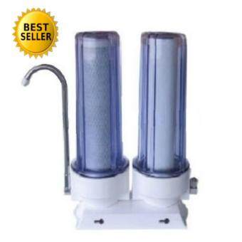 Double stage water filtration set.