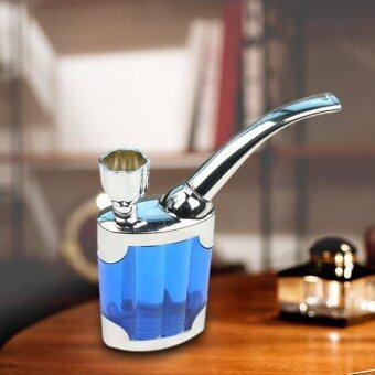 Dual Purpose Water Tobacco Pipe Cigarette Holder Liquid SmokingFilter (Blue) - 2