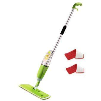 Easy Spray Mop with 2 Microfiber Refill Mop Pads (Green)