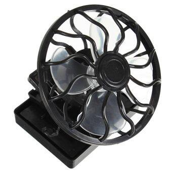 Harga Eco-friend Hat Mini Clip Solar Sun Energy Power Panel Cell CoolingFan Cooler Black NEW