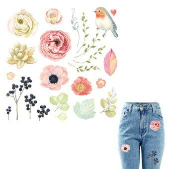 Flower Patches For Clothes 22*21.6cm A-level Washable Patch
