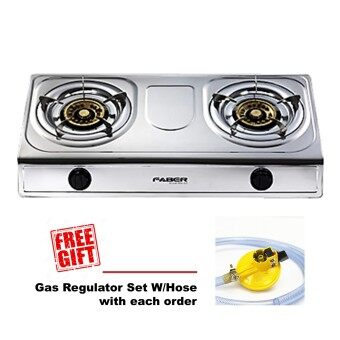 Harga [FREE GIFT] Faber 2 Burners Stainless Steel Gas Cooker FS1020