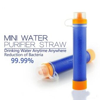 Geertop Diercon 1500L Mini Water Filter Purifier Straw Personal -0.01 micron 99.99% - BPA Free - For Outdoor Camping Survival - Blue - 2