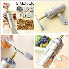Household Stainless Steel Hand Pressure Noodle Maker With 5 Models Noodle Makers
