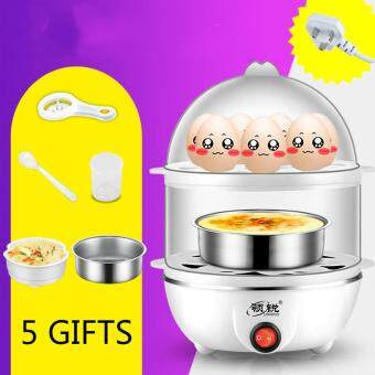 Harga Leader Cooker Automatic Power-off Double-layer Multifunctional Eggboilers Mini Steamed Egg Steamed Dangeng Household Machine