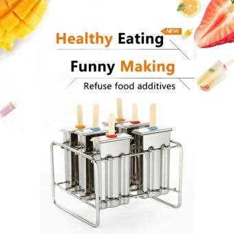 Harga Baffect Stainless Steel Popsicle Mould With Stick Holder Family Ice Cream Mold set of 6 Kitchen Tool