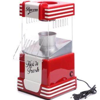 Harga High Quality 50s Style Nostalgia Hot Air Popcorn Maker Popper 1200W Big Size (41cm x 20cm x 23.5cm)