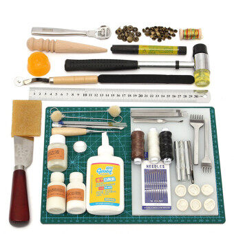 Harga Tools Leather Craft Tool Kit Leather Hand Sewing Tool Set Professional