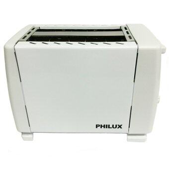Harga Philux PL-02 2 Slices Bread Pop Up Toaster White
