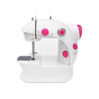 Harga Mini Sewing Machine with Double Threads and Two Speed Control Red