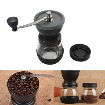 Harga leegoal Manual Coffee Grinder Coffee Mill Grinding Mill Pepper Grinder Bean Grinder With Sealed Can,Black