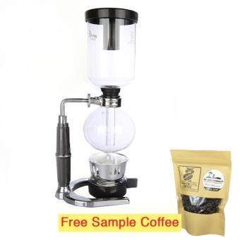 Koko M-SBC01 3-cup table-top siphon coffee maker vacuum coffee pot+ ethanol burner
