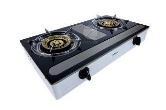 Meck Table-top Gas Stove MGS-1455AY Double Burner 145mm - Stainless Steel Body - 3