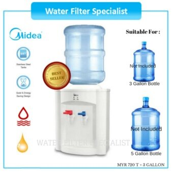 Harga Midea water dispenser MYR720T Hot & Normal with 3 Gallon emptybottle