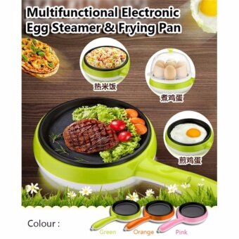Harga Mini Electric Frying Pan Egg Cooker Fried Egg Boiler SteamerMultifunctional Egg Steaming