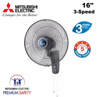 Mitsubishi Electric W16G 16-inch Wall Fan (Grey) *HIGHLY RECOMMENDED*