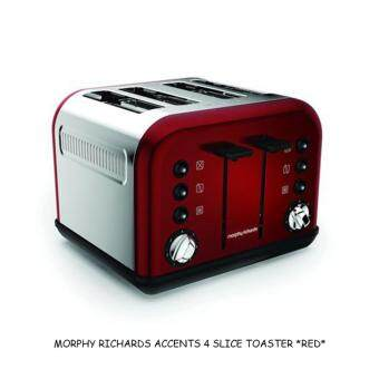 Harga MORPHY RICHARDS 242030 ACCENTS 4 SLICE TOASTER *RED*