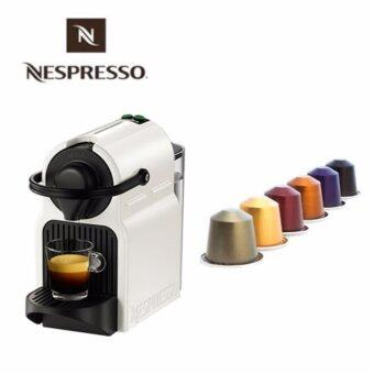 [Nespresso inissia C40] Capsules Coffee Machine White / Fast heating / Free Gift 16kind of capsules Home made Luxury Coffee 0.7L Capacity / coffee maker / nespresso capsules