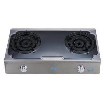 Harga [NEW] ZEL ZGC 2155S Stainless Steel Table Top Gas Stove With 2Super