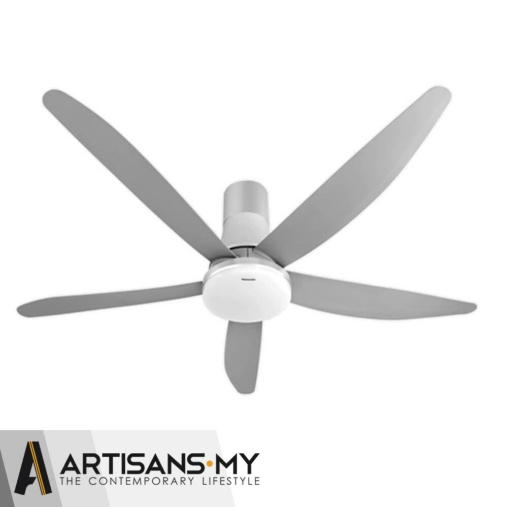 80 inch ceiling fans malaysia shelly lighting panasonic led 5 blade 1500mm 60 inch f m15gw qpi platinum silver short pipe ceiling fan aloadofball Images
