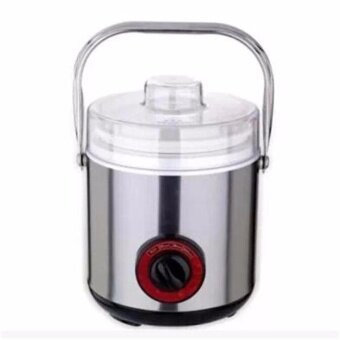 Harga Portable Ceramic Cooker Stainless Steel Electric Soup Porridge Pot1L (Silver)