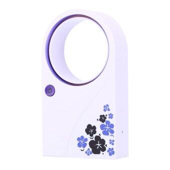 Harga Portable Mini Bladeless Fan Refrigeration No Leaf Air ConditionerUSB Desktop (Purple)