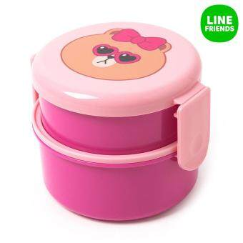 Harga ROUND TWO-FOLD LUNCH BOX_CHOCO