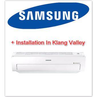Samsung 1.0hp Inverter Triangle Wall Mount Air Conditioner AR09MVFSBWKNME + Installation In Klang Valley