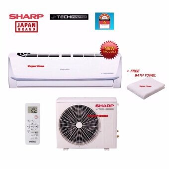 Sharp J-Tech Inverter AHX9UED & AUX9UED 1.0hp Inverter Split Air Conditioner -R410a + Free Bath Towel