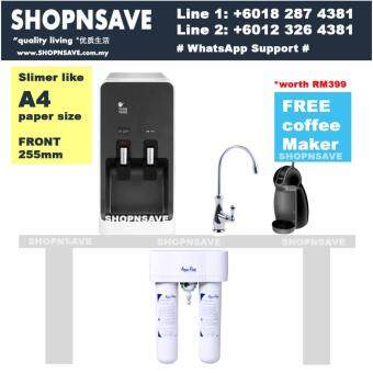 SHOPNSAVE combo: 3m Dws1000 dua filters filtration water filters system + Tong Yang 8900c Hot Cold Water Dispenser, Water Dispenser, 3m water filters
