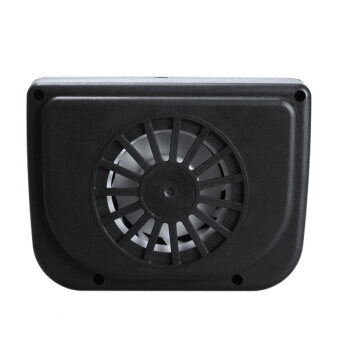 sell solar sun powered car auto air vent cool cooler vent fan radiator black in. Black Bedroom Furniture Sets. Home Design Ideas